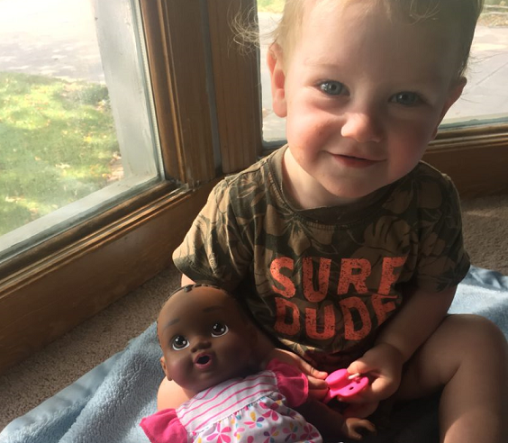 Why I Bought My White Son A Black Baby Doll www.herviewfromhome.com