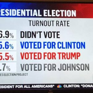 Nearly Half Of Our Country Did Not Vote!