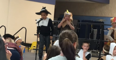 "Mom Reminds Internet That Her Son With Autism Will ""Not Lose His Sunshine"" After Teacher Pulls Mic During Thanksgiving Play www.herviewfromhome.com"