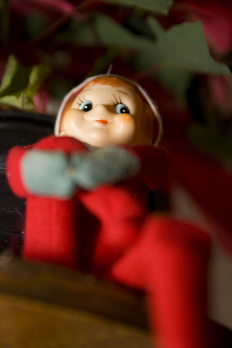 An Open Letter to Santa's Elf: Stay Off My Shelf www.herviewfromhome.com