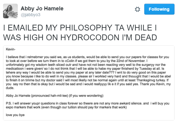 Nebraska College Student Sends Embarrassing E-mail And Is Using Her Social Media Celebrity Status For Good www.herviewfromhome.com