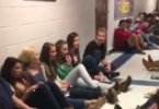 "Students sing ""Mary Did You Know"" During Tornado Warning www.herviewfromhome.com"
