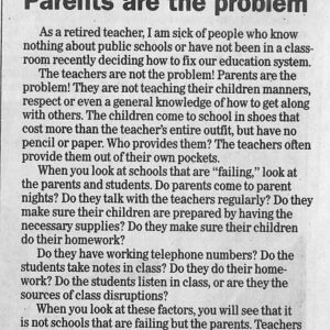 "Teacher Responds To Viral ""Parents Are The Problem"" Letter"