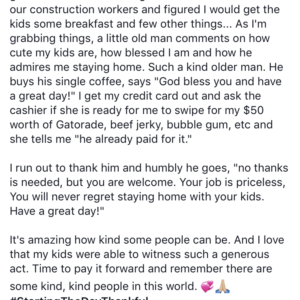 Kind Gesture From Stranger Proves Motherhood Is The Best Job Ever
