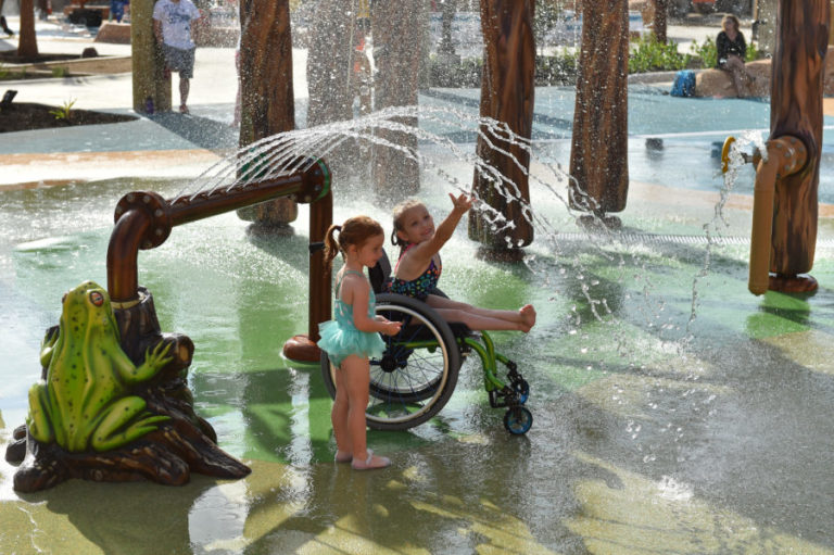 Kids with special needs in San Antonio can now splash and swim and play at a waterpark alongside their peers, thanks to Morgan's Inspiration Island.