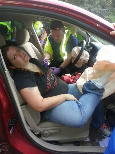 After a Disastrous Mistake, this Mom Warns: Don't Ride in a Car with Your Feet on the Dashboard www.herviewfromhome.com