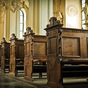 To The Woman Sitting Alone in Church, Please Stay