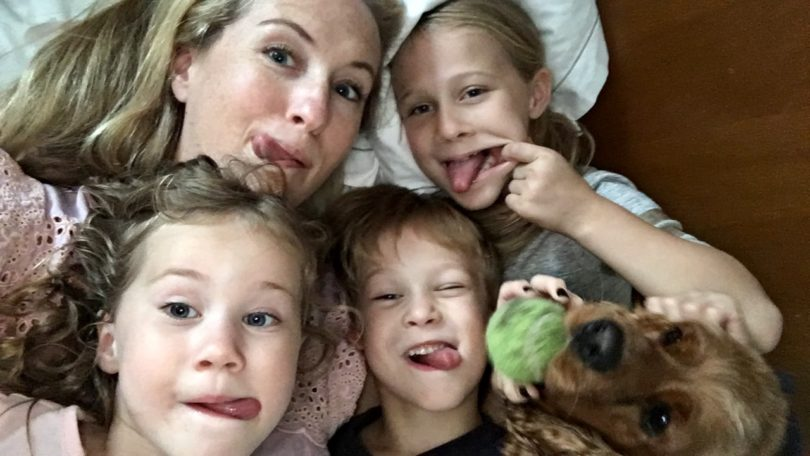 This mom knew it was time to go. Even if it meant driving alone with her three kids and a dog for four days. But she did it. Because moms are amazing.