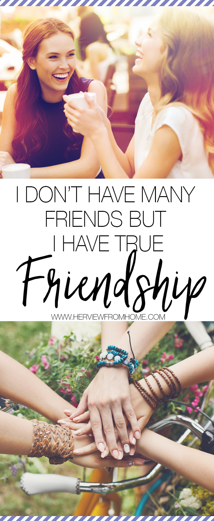 Whether you have one true friend, or many, is irrelevant in the grand scheme of things. What matters is whether those friendships fill your cup—and as they say, my cup runneth over.