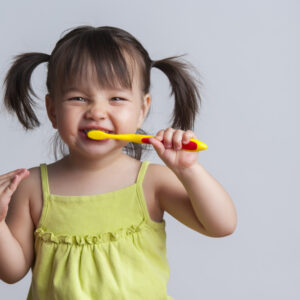 How I got my Toddler to Brush her Teeth