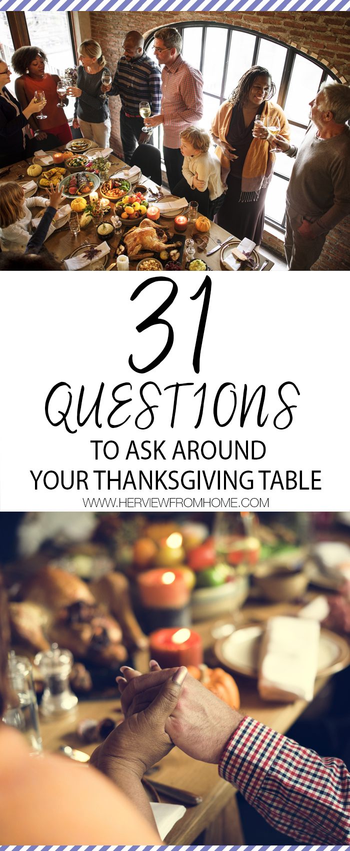 And as the turkey gets carved and the conversations get going, I hope that you will join us in discussing a few of these questions that will help our words reflect gratitude---not just on Thanksgiving Day but every day www.herviewfromhome.com