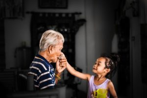 The value of having a senior in your child's life is immeasurable. Whether it is his own grandparent or a senior he's befriended, the relationship is beneficial to the health and well-being of everyone.