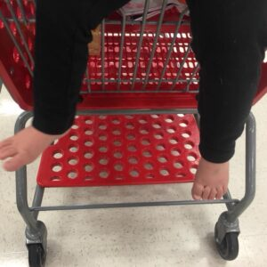 Dear Concerned Shoppers at Target, My Kid is Barefoot and He's Fine