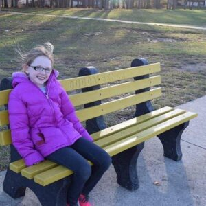 This Third Grader Recycled 1,200 Pounds of Bottle Caps Into Buddy Benches