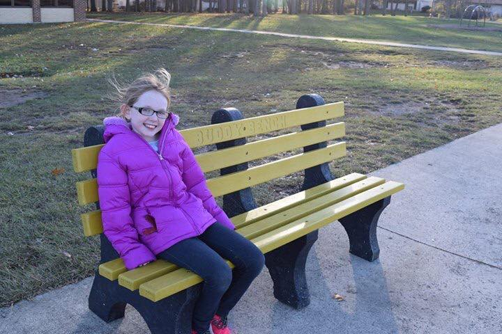 This Third Grader Recycled 1,200 Pounds of Bottle Caps Into Buddy Benches www.herviewfromhome.com