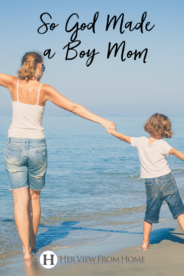 So God Made a Boy Mom #boymom #boys #motherhood #parenting
