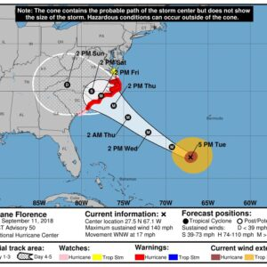 As Hurricane Florence Gains Strength, So Do Our Prayers For Millions of Residents in its Path