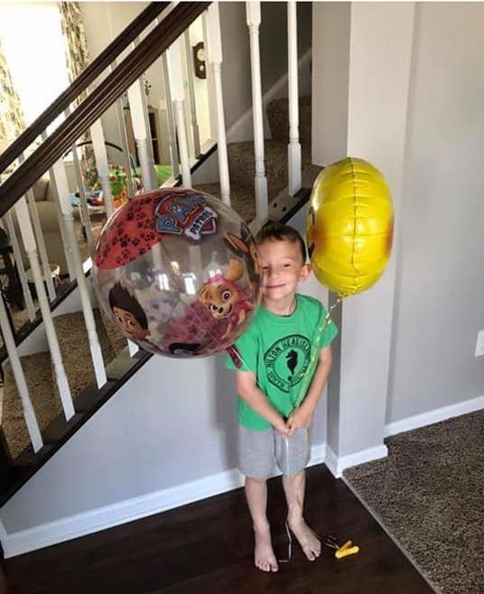 How Balloons are Helping One Little Boy Cope With His Mom's Cancer Diagnosis www.herviewfromhome.com