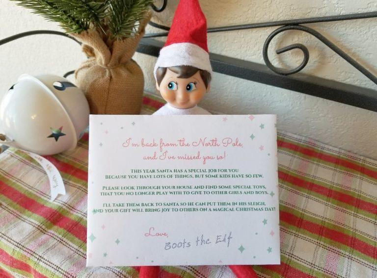 Elf on the shelf idea declutter toys