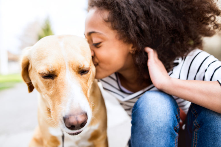 I Love That My Kids Are Growing Up With a Dog www.herviewfromhome.com