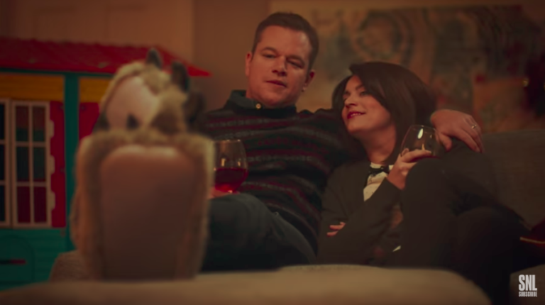 Christmas for parents is magical and joyous, and also exhausting and loud and involves inappropriate relatives and wine. This SNL skit nails it.
