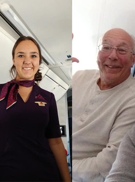 Best Dad Ever Books Six Flights So He Can Spend Christmas With His Flight Attendant Daughter www.herviewfromhome.com