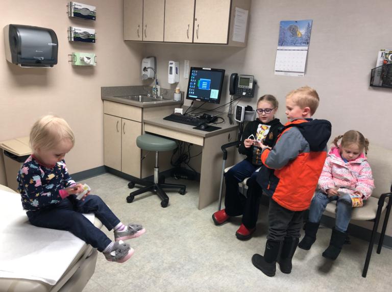 kids in doctor's office www.herviewfromhome.com