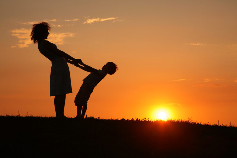 mother and son silhouette www.herviewfromhome.com