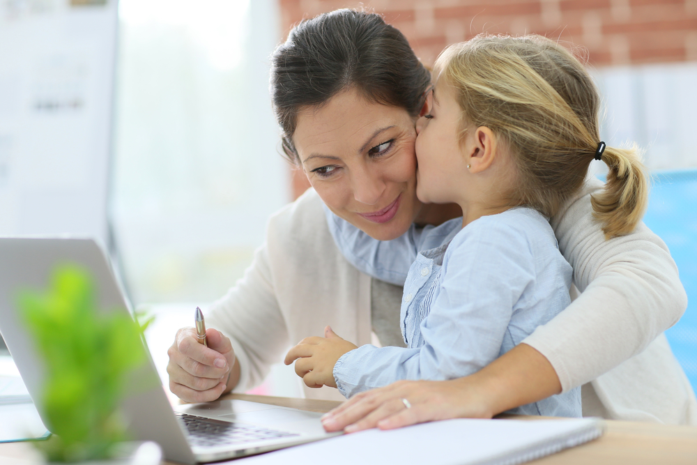 working mom with daughter www.herviewfromhome.com