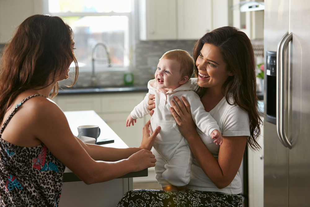 friends with baby in kitchen www.herviewfromhome.com