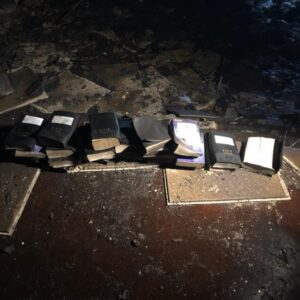 """Odds Were Against Us, God Was Not."" Their Church Burned to the Ground—But Every Bible Survived"