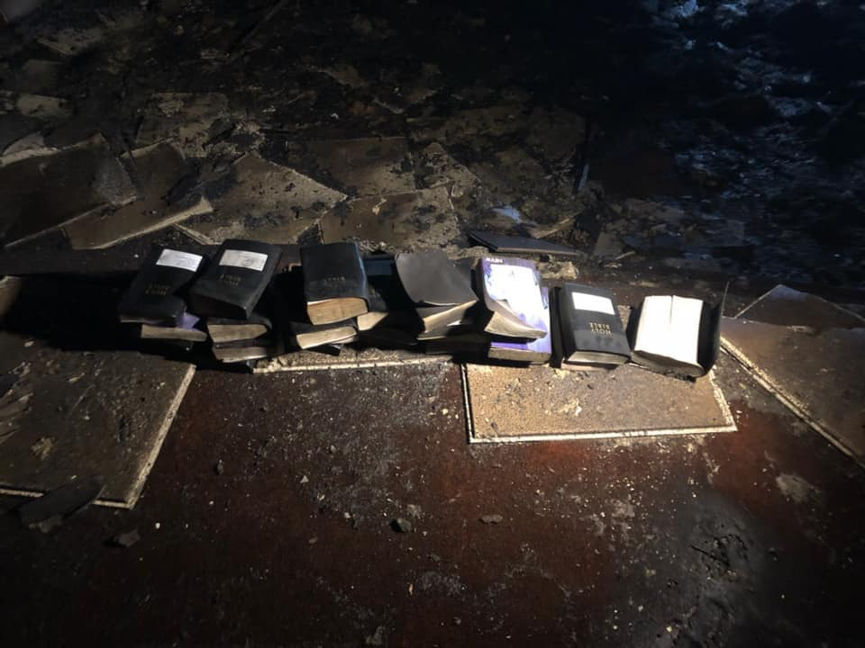 Church Burns to the Ground, But Crosses and Bibles Miraculously Remain www.herviewfromhome.com
