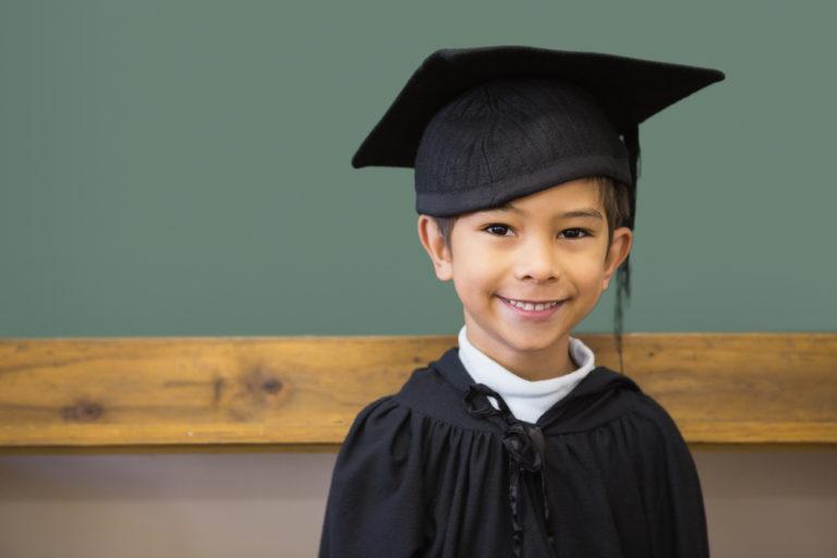 preschool graduate, cap and gown, kindergarten, boy mom, school, motherhood, www.herviewfromhome.com