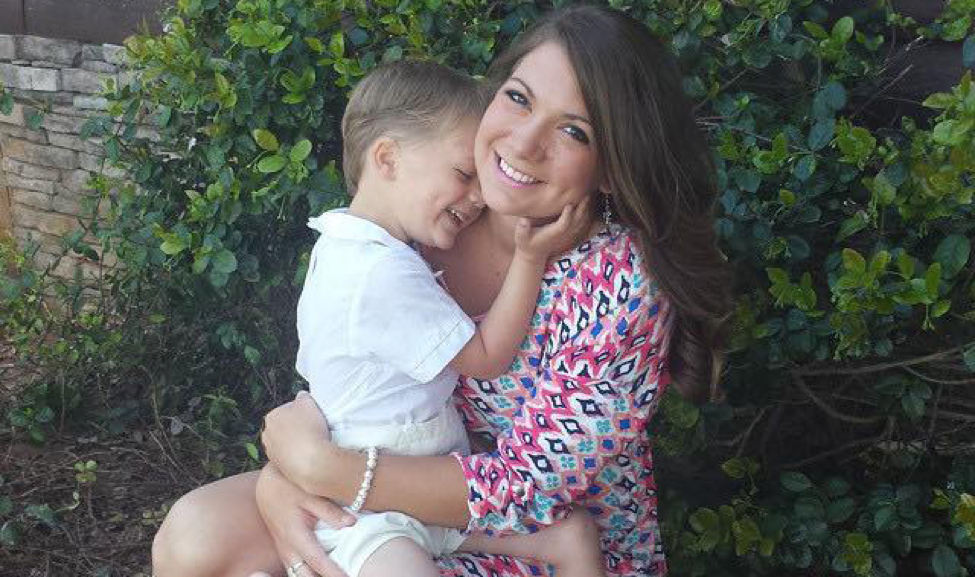 Whitney Ballard and son