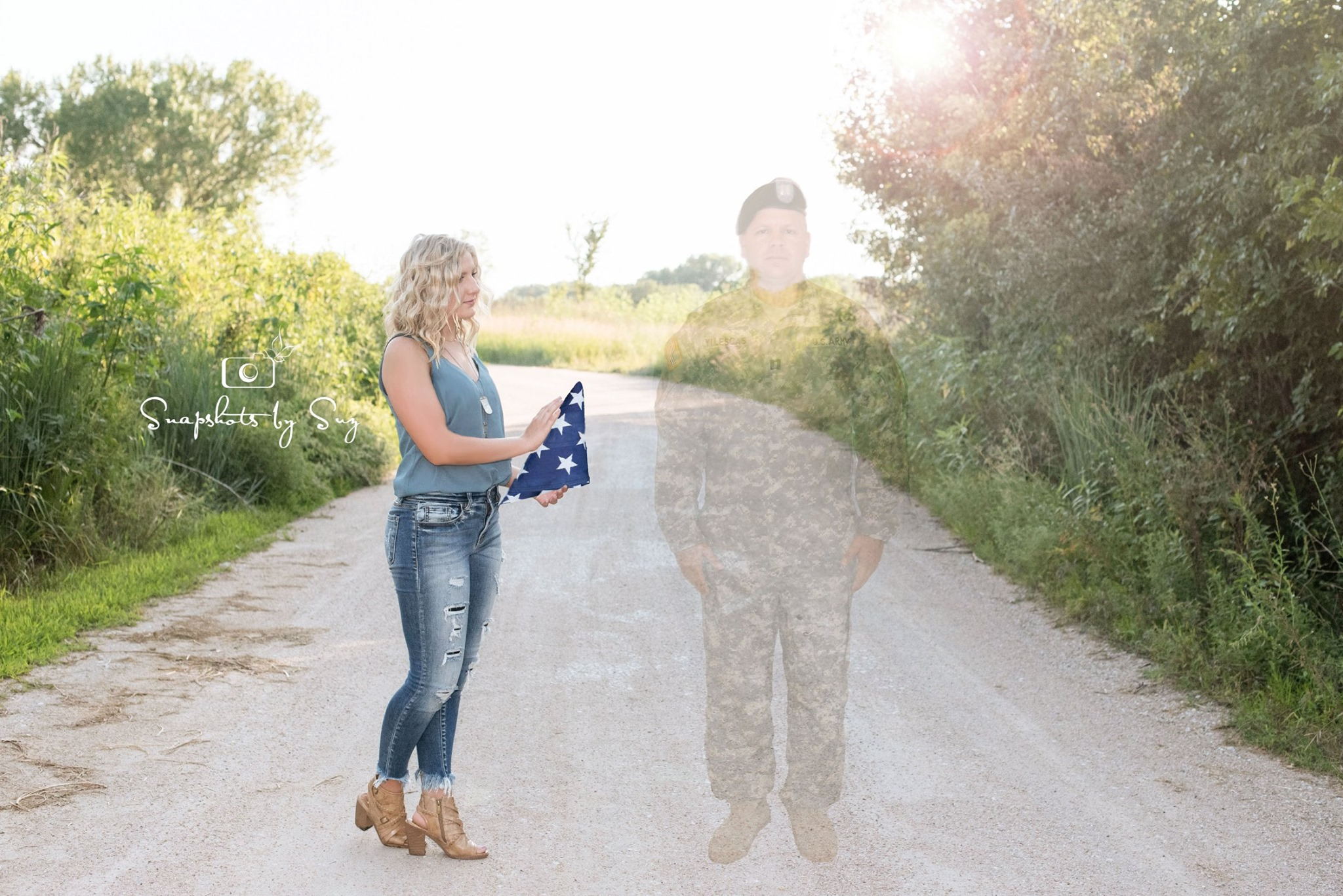 Photo from Snapshots by Suz of teen and fallen soldier dad