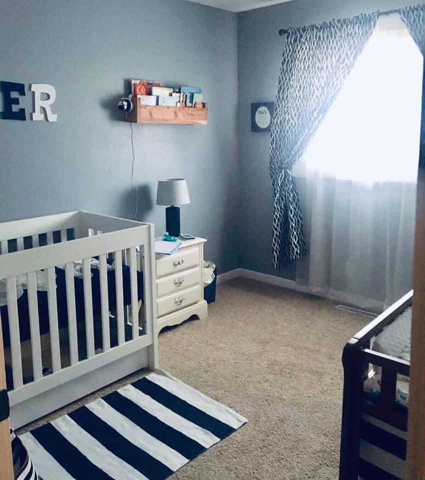 Empty baby room