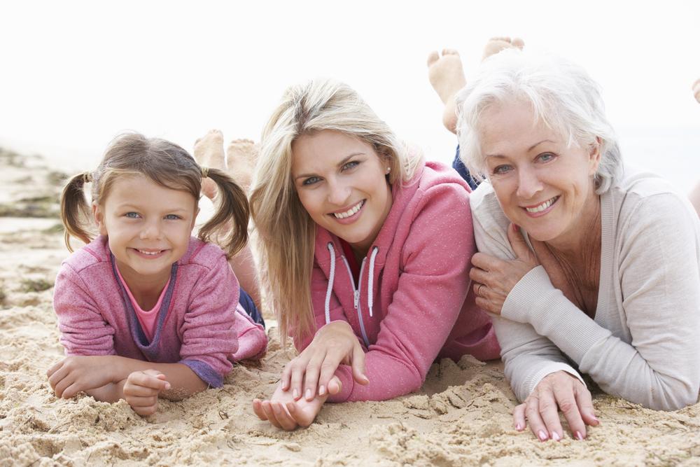 Three generations mom, grandma and child