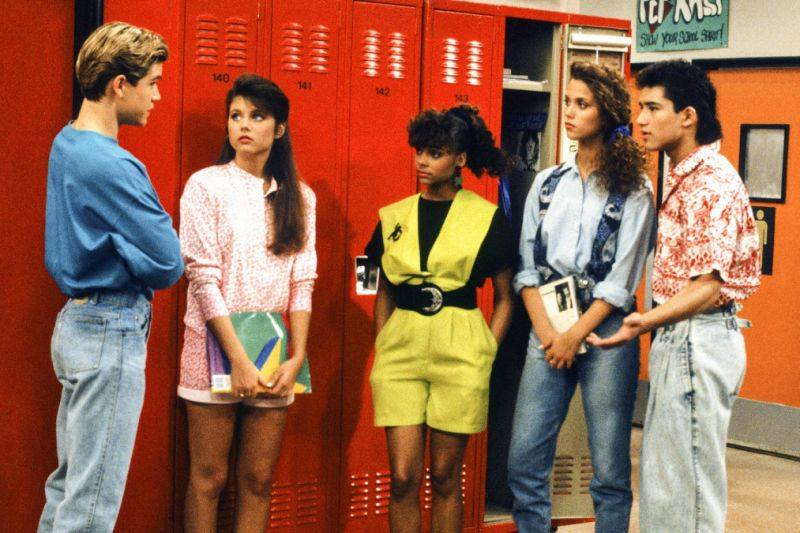 Saved By The Bell cast at Bayside High