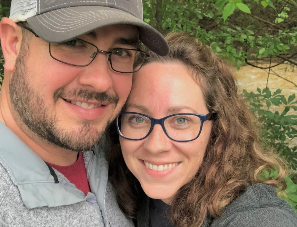 Husband and wife taking selfie