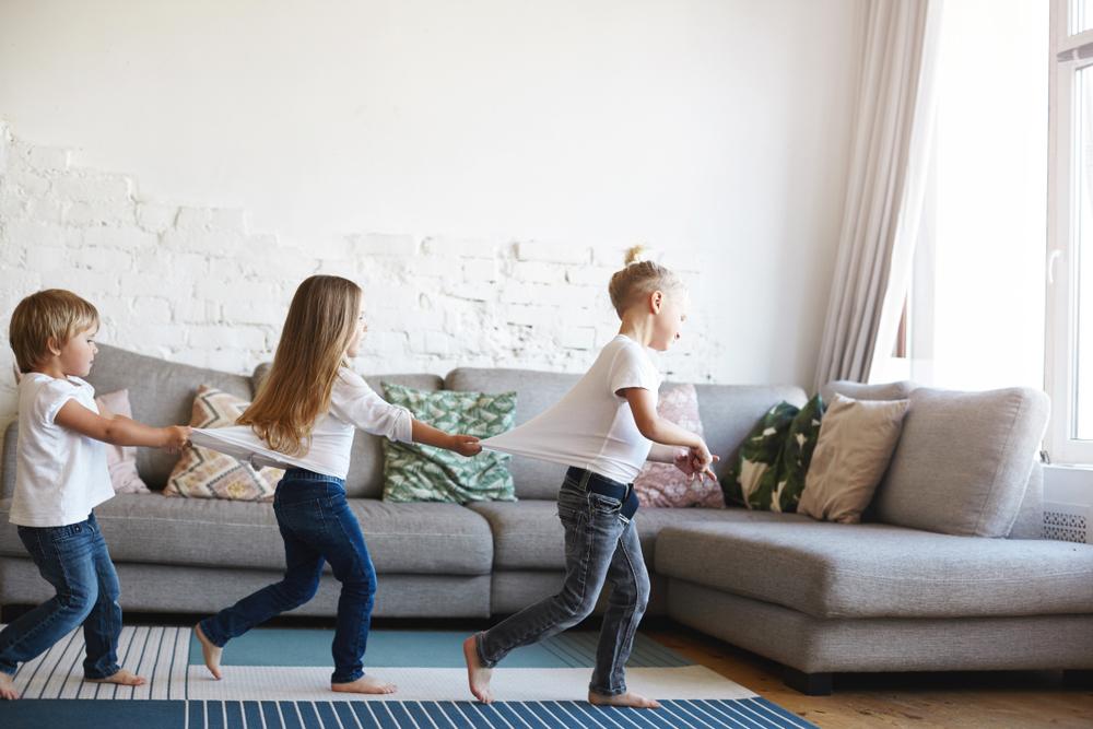 Kids running in living room