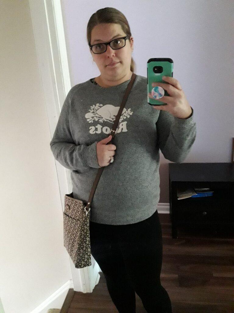 Woman selfie in mirror
