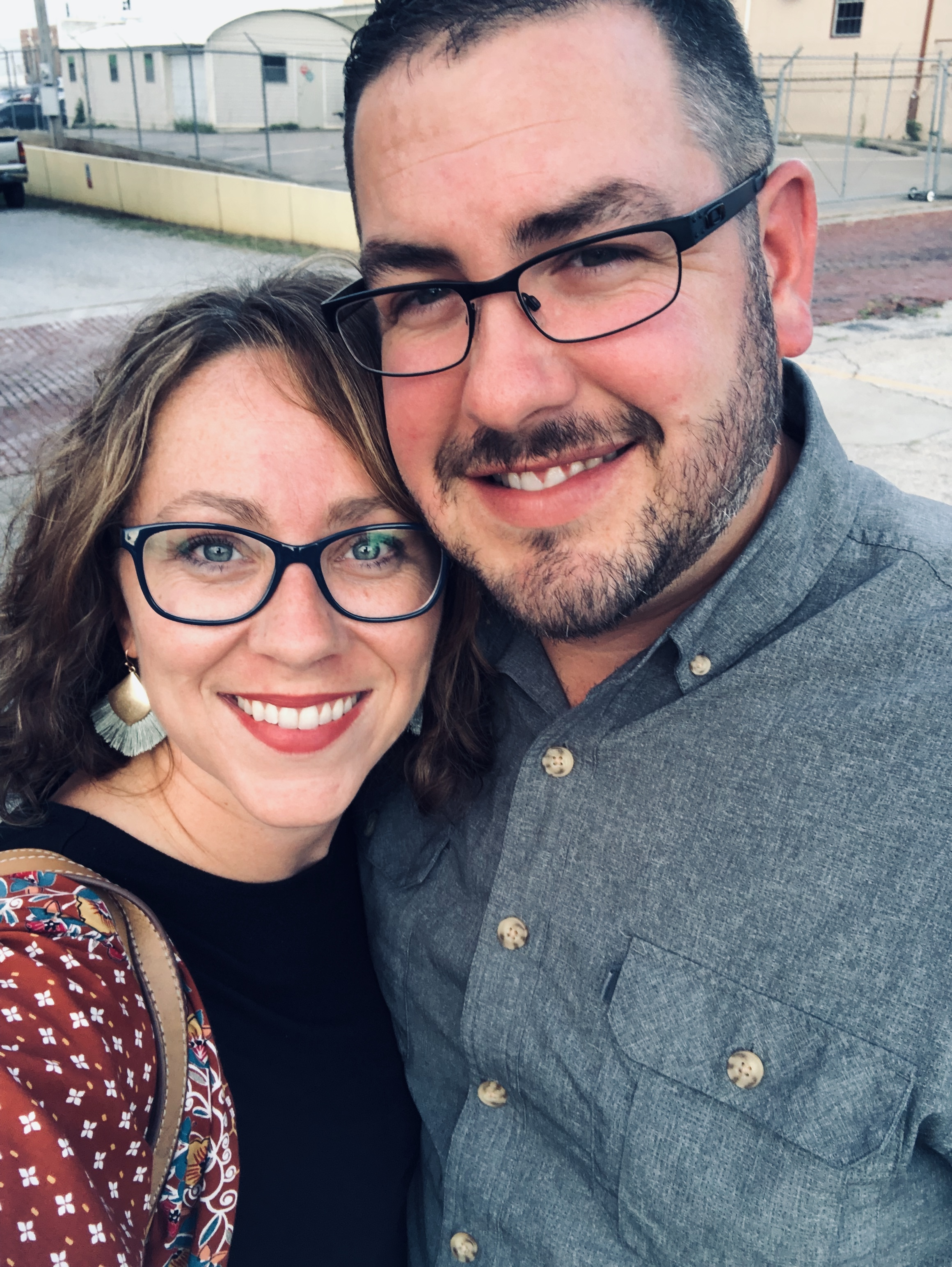 Man and woman selfie