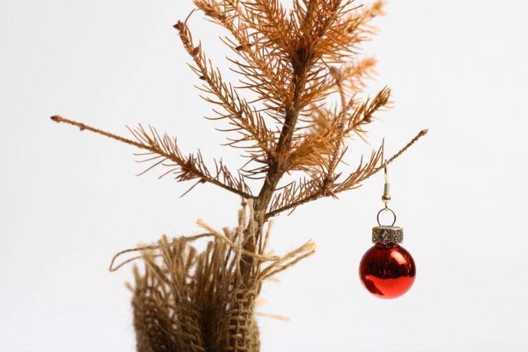 Christmas tree sad ornament