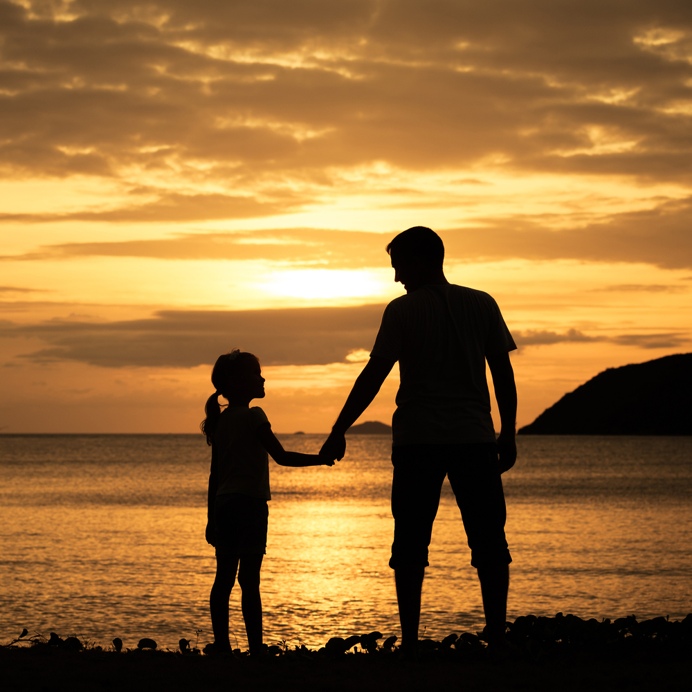 Father daughter silhouette