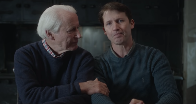 James Blunt and father Charles Blount in Monsters music video