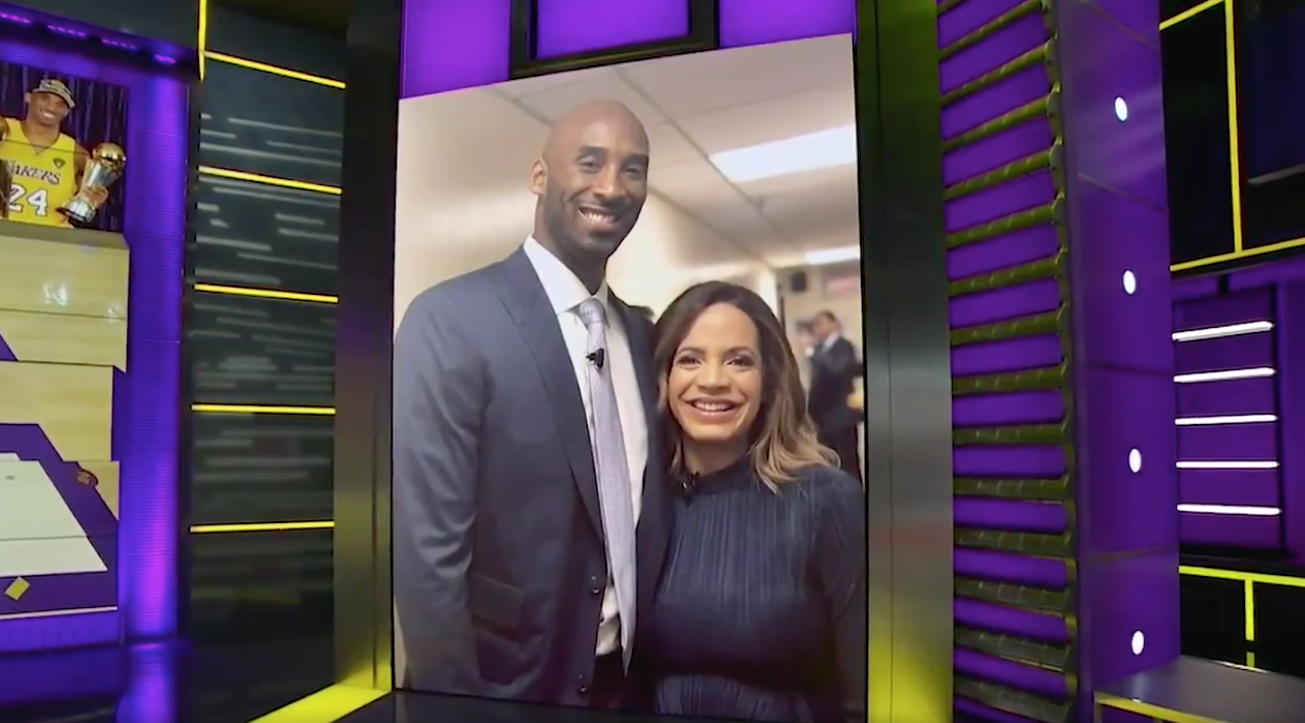 Kobe Bryant and Elle Duncan SportsCenter ESPN photo