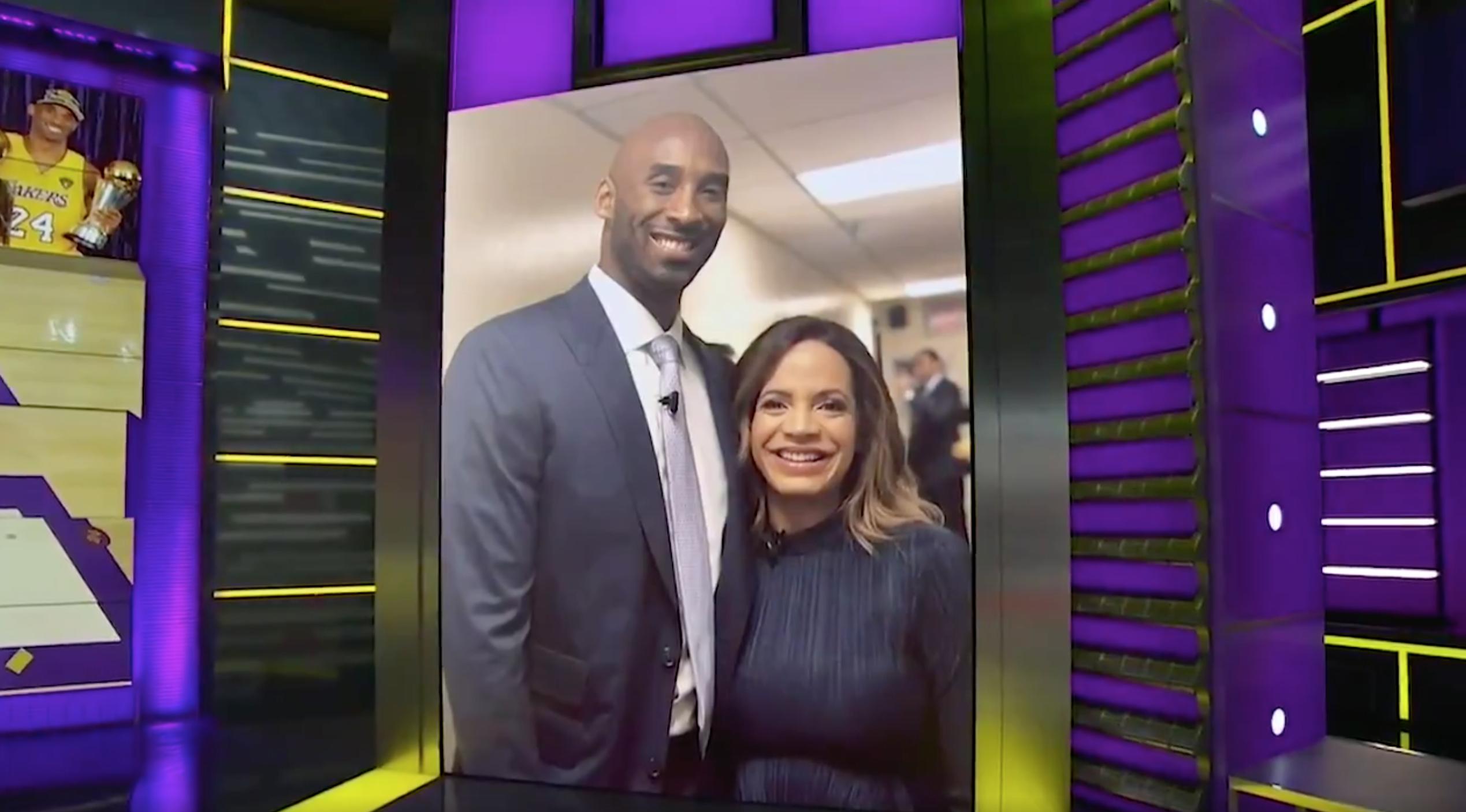 Kobe Bryant and Elle Duncan SportsCenter ESPN photo