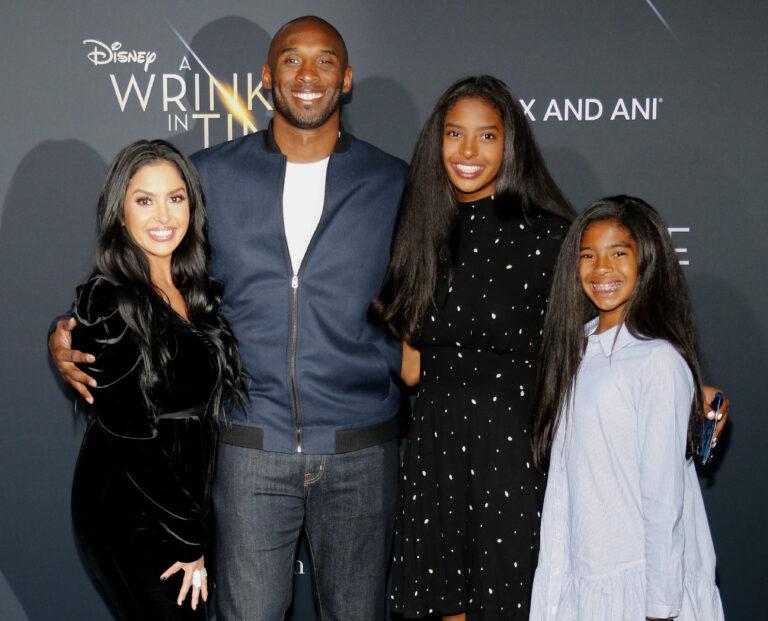 Kobe Bryant family stock photo