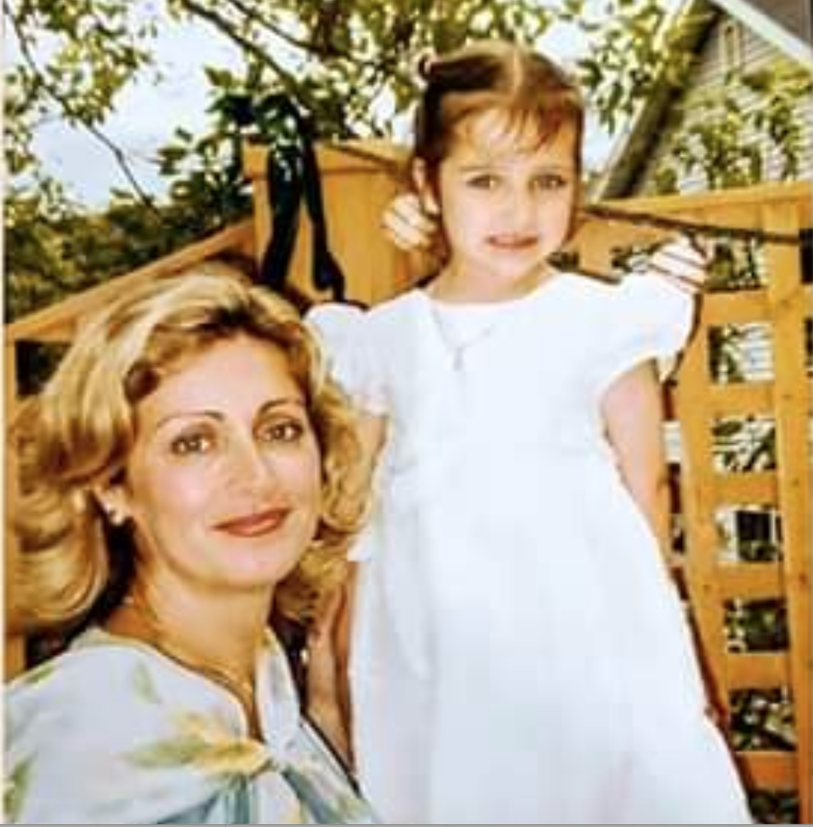 Mother and daughter vintage photo