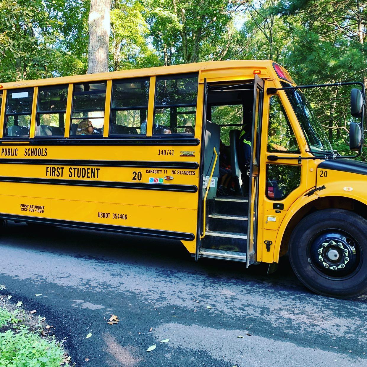 School bus, color photo